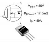 IRFZ44 N-FET 60V/46A 150W 28mOhm TO220 =RFP50N06