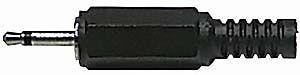 JACK konektor 2,5 mono plast černý