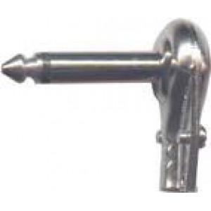 JACK konektor 6,3 mono kov úhlový bílý