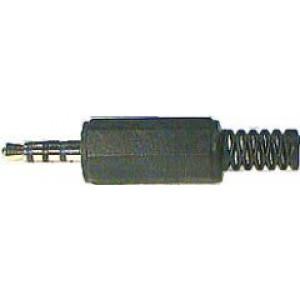 JACK konektor 3,5 4pin. plast černý