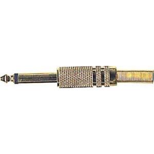 JACK konektor 6,3 mono kov zlacený