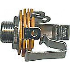 JACK zdířka 6,3 stereo panelová kovová s vypínačem
