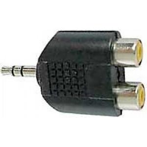 Redukce JACK 3,5 stereo konektor/2x CINCH zdířka