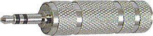 Redukce JACK 3,5 stereo/JACK 6,3 st.zdířka kovové