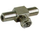 Redukce F T kus,2x zdířka+1x konektor