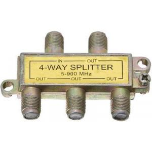 Rozbočovač IN/4x OUT 5-900 MHz s F konektory