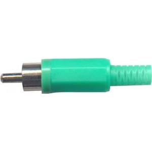 CINCH konektor plast zelený