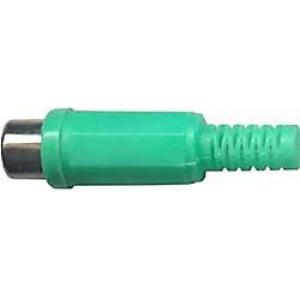 CINCH zdířka plastová zelená na kabel