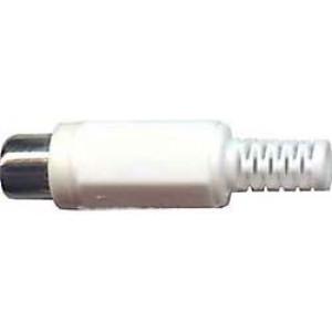 CINCH zdířka plastová bílá na kabel