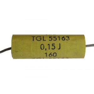 150n/160V TGL55163-svitkový kondenzátor axiální pr.9x21mm