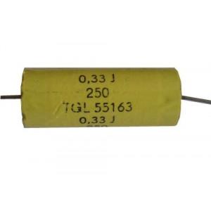 330n/250V TGL55163-svitkový kondenzátor axiální, pr. 12x31mm
