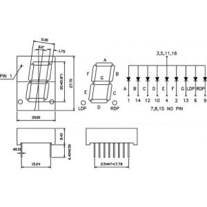JS1-8011BR zobrazovač .8. červený 20mm,spol.anoda