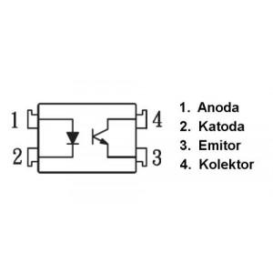 PC817B optočlen 5kV CTR 130-260% DIP4 =KP1010B