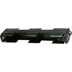Držák baterie 4xR6/AA/UM3 s klipsem za sebou