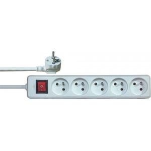 Prodlužovací přívod 5m-5x10A+vypínač,3x1mm2