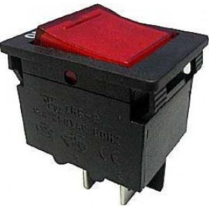Vypínač kolébkový OFF-ON 2pól.250V s jističem 15A