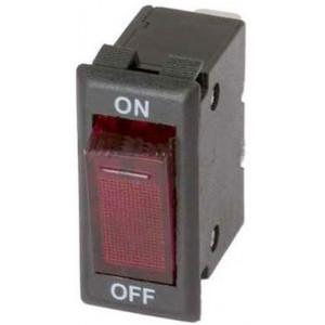 Vypínač kolébkový OFF-ON 1pól.250V s jističem 10A