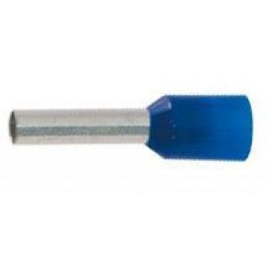 Dutinka pro kabel 2,5mm2 modrá,l=12mm (E2512)