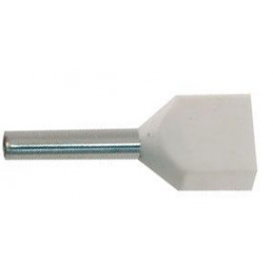 Dutinka pro dva kabely 0,5mm2 bílá (TE0,5-8)