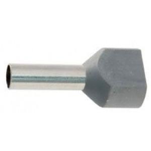 Dutinka pro dva kabely 4mm2 šedá (TE4-12)