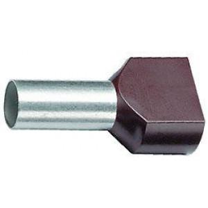 Dutinka pro dva kabely 6mm2 černá (TE6-14)