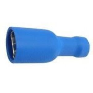 Faston-zdíř.6,3mm modr,kab.1,5-2,5mm2 plná izolace
