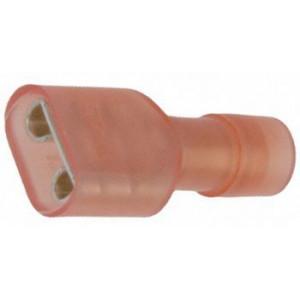 Faston-zdíř.6,3mm červ.kab.0,75-1,3mm2 plná izol.