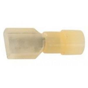 Faston-zdíř.6,3mm žl.kabel 2,6-6,7mm2 plná izolace