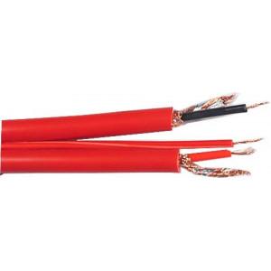 Kabel 2x6mm+2mm ovládací-červený