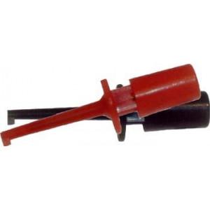 Zkušební hroty s háčky pár červený+černý 55mm
