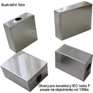 Krabička plechová 40x40x17mm s víčkem
