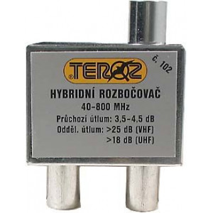 Rozbočovač 2x hybridní širokopásmový TEROZ 102