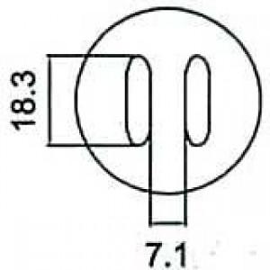 Nástavec na vyfoukávačku SOJ 7,1x18,3mm
