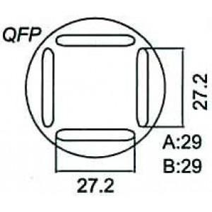 Nástavec na vyfoukávačku QFP 27,2x27,2mm