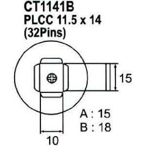 Nástavec na vyfoukávačku PLCC 32pin 10x15mm