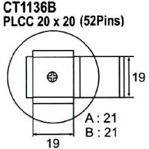 Nástavec na vyfoukávačku PLCC 52pin 19x19mm