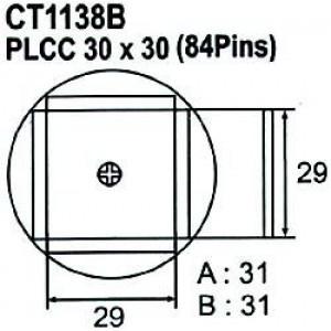 Nástavec na vyfoukávačku PLCC 84pin 29x29mm