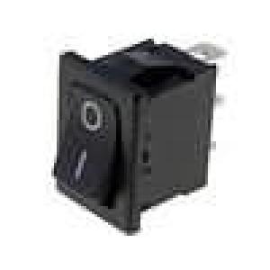 Kolébkový přepínač miniaturní 1x přep. ON-ON 6A černý