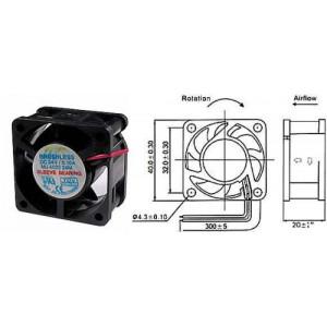 Ventilátor 40x40x20mm 24V/0,1A 7500 ot/min.