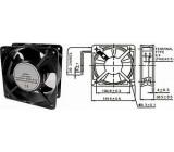 Ventilátor 120x120x38mm 230V/0,14A 2700 ot/min