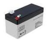 Olověný akumulátor 12V 1,3Ah 97x43x52mm
