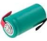 Akumulátor NiMH 1,2V 650mAh (2/3R6), páskové vývody