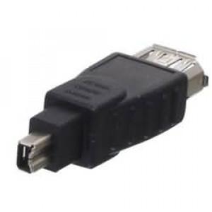FireWire adaptér so 4-kolíkovou zástrčkou a 6-kolíkovou zásuvkou