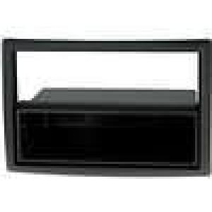 Rámeček pro autorádio 2 ISO Renault Megane 2007 - černý