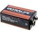 Lithiová baterie 9V 1200mAh 6F22, dlouhá životnost