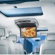 """Stropní monitor 13,3"""" šedý s DVD/SD/USB/HDMI + výměnný kryt béžový/černý"""