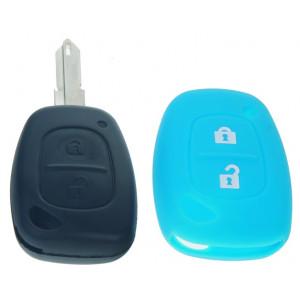 Silikonový obal pro klíč Renault, 2-tlačítkový, modrý