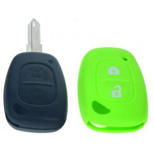 Silikonový obal pro klíč Renault, 2-tlačítkový, zelený