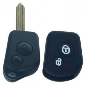 Silikonový obal pro klíč Citroën 2-tlačítkový, černý
