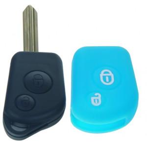 Silikonový obal pro klíč Citroën 2-tlačítkový, modrý